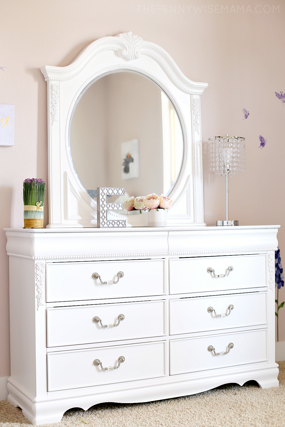 Jessica White Dresser from American Furniture Warehouse