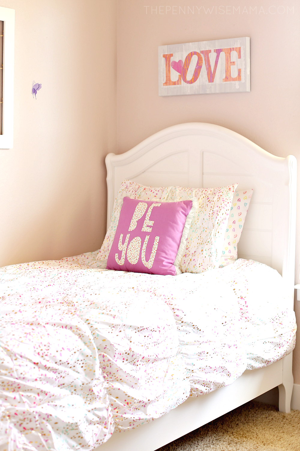 Tween Girl Bedroom Ideas - Adrian Sleigh Bed from American Furniture Warehouse