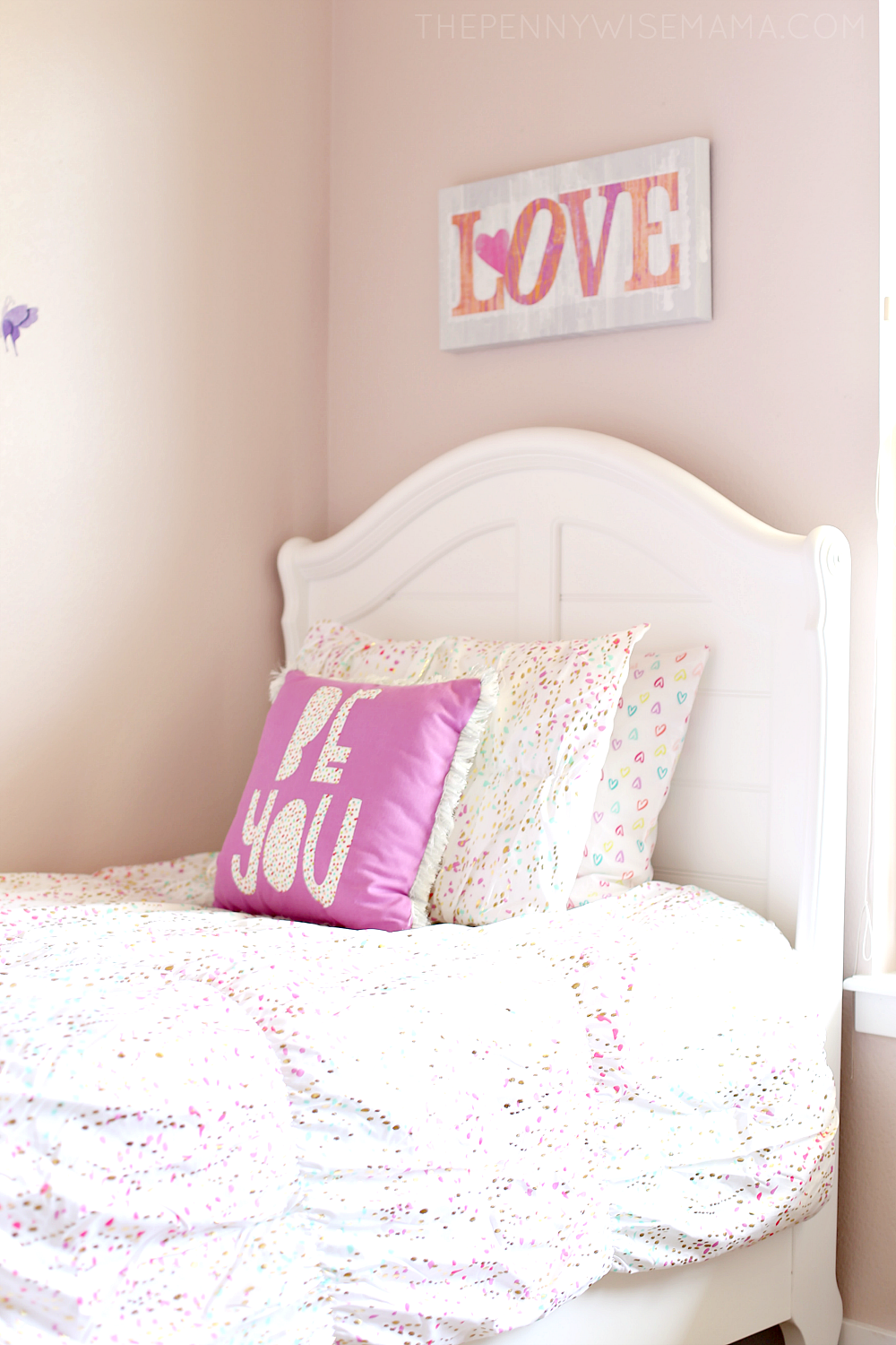 Cute Girls Room - Adrian Sleigh Bed from American Furniture Warehouse