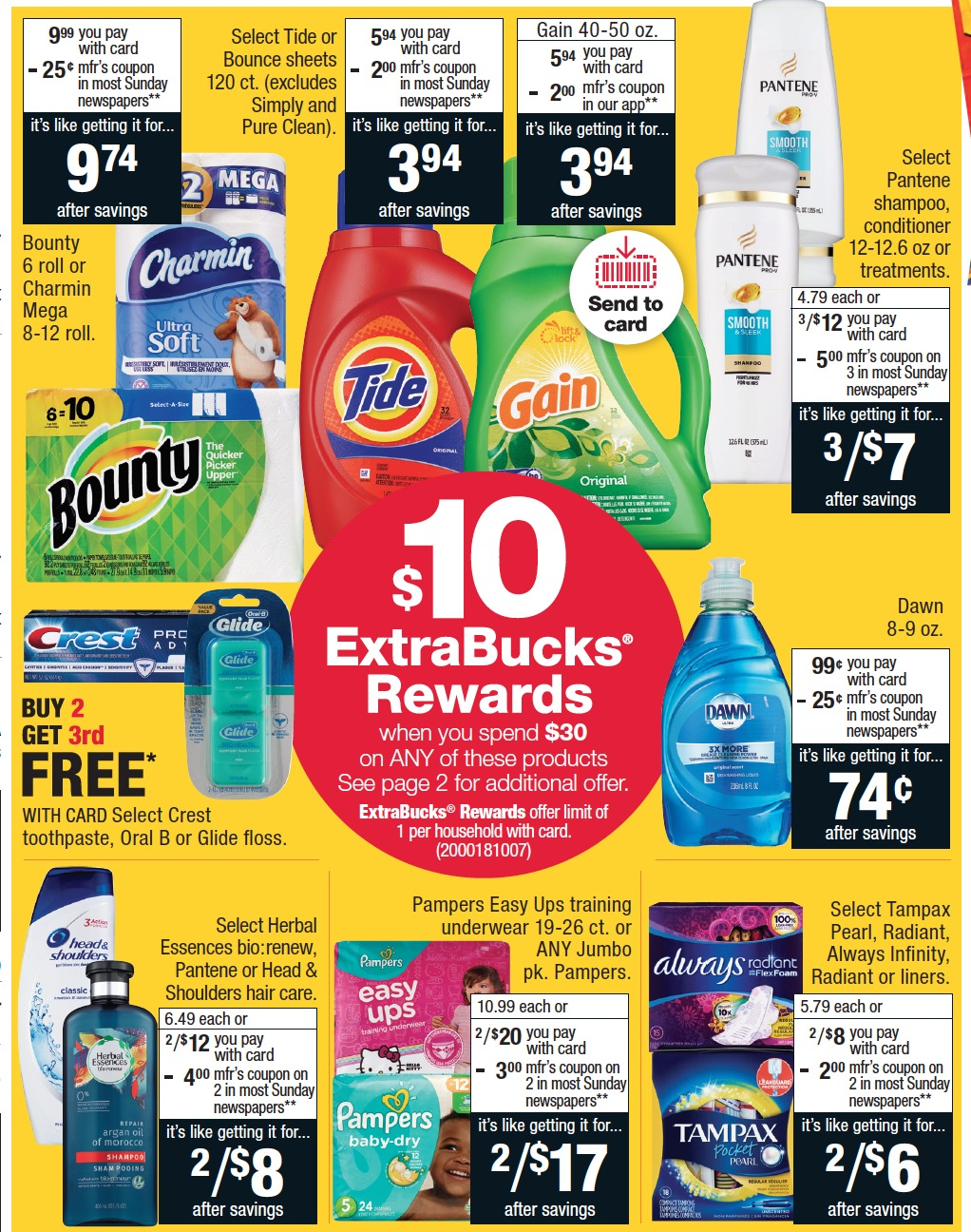 P&G Deals + ExtraBucks Rewards at CVS in May