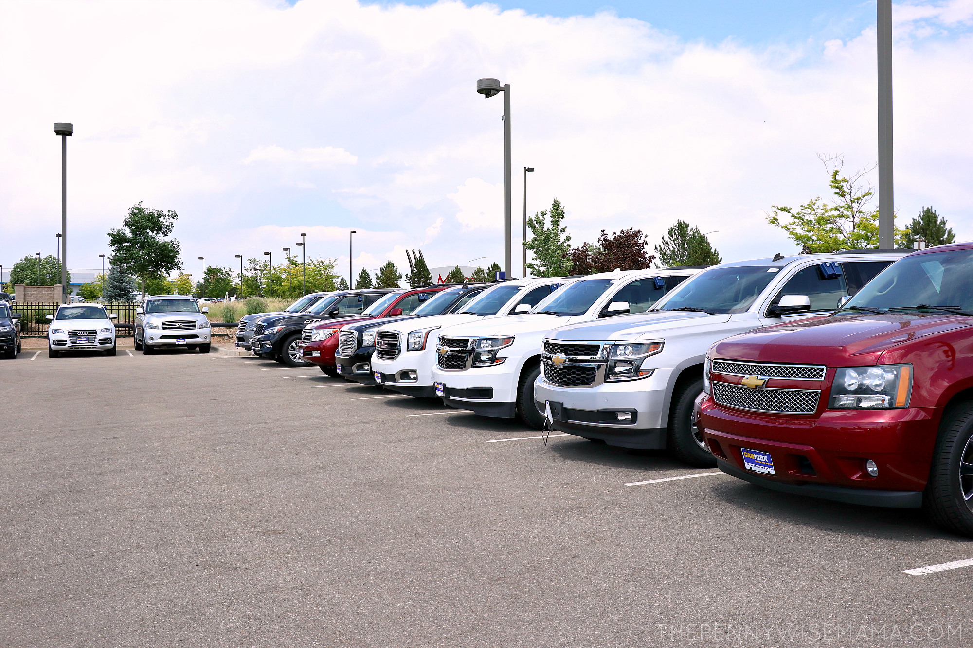 Selection of used SUVs at CarMax