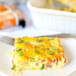 Easy Low-Carb Sausage Egg & Cheese Casserole