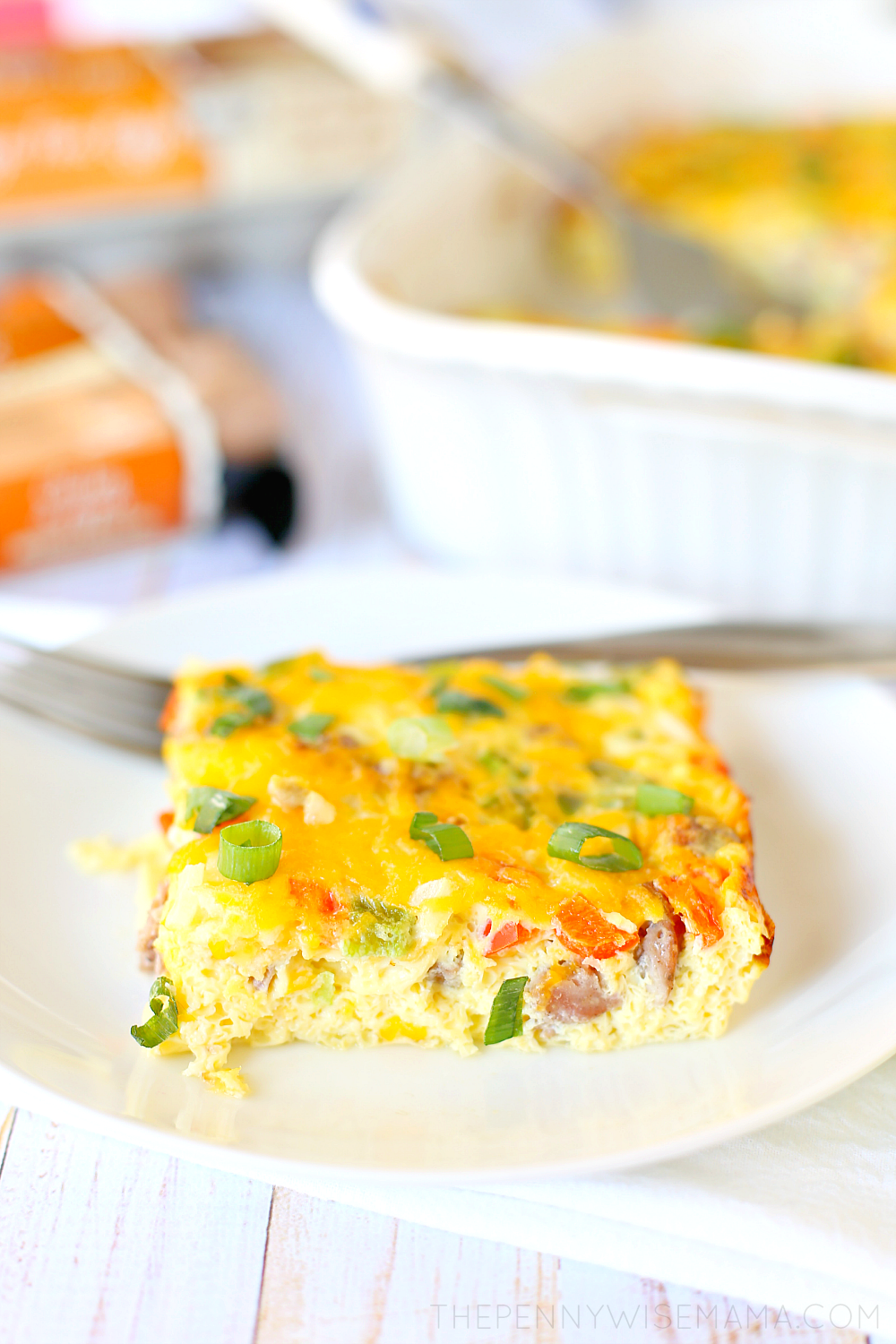 Low Carb Sausage Egg & Cheese Casserole - a delicious and easy recipe!