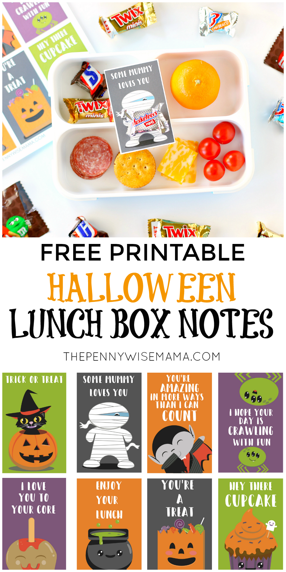 Halloween Lunch Box Notes - Free Halloween Printables