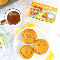 The Best Pumpkin Muffins & Vermont Maple Ginger Tea