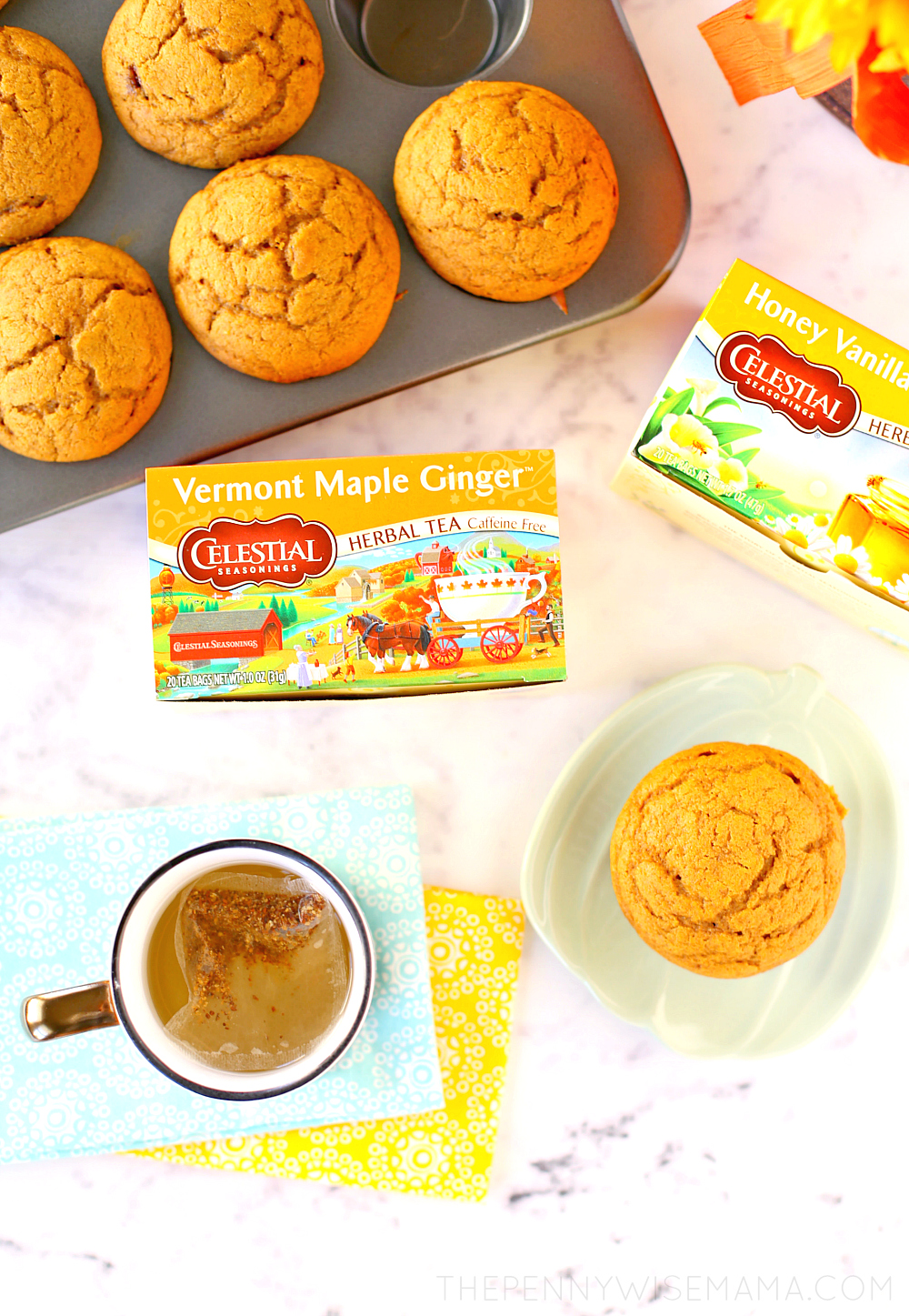 Fall Tea Break with Celestial Seasonings + Easy Pumpkin Muffin Recipe