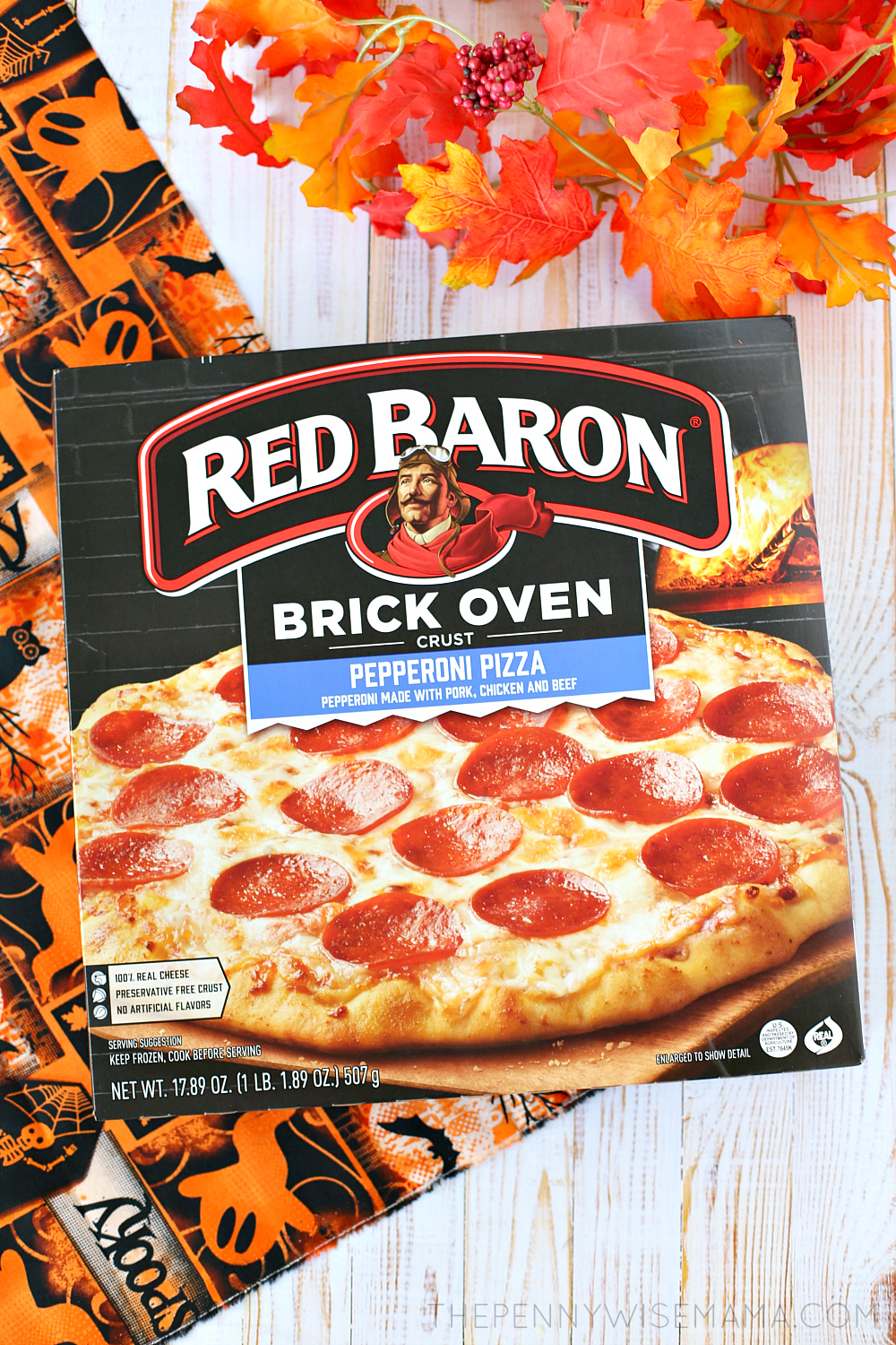 Red Baron Brick Oven Pizza - Perfect for Halloween or any day of the week!