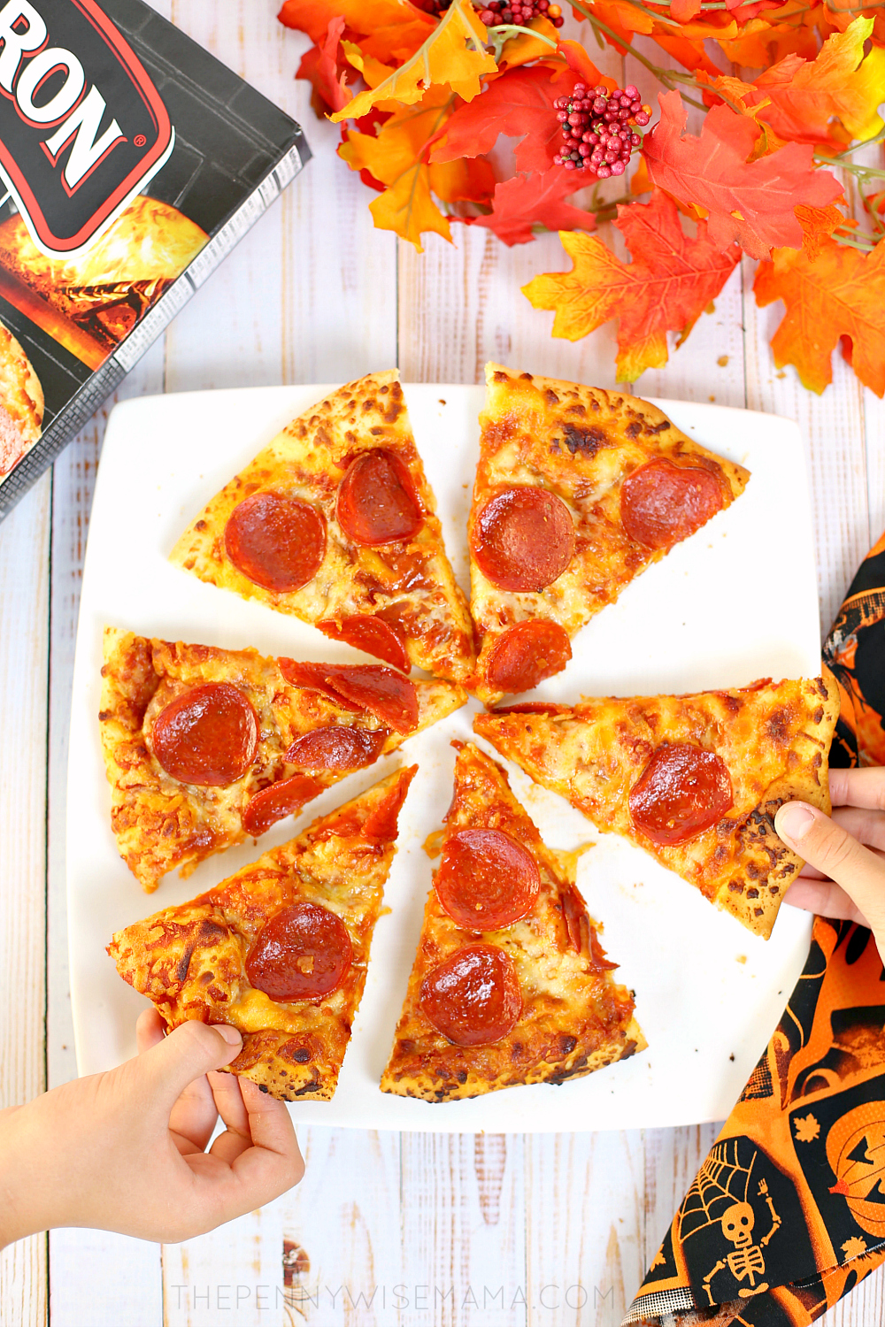 Halloween Dinner: Red Baron Brick Oven Pepperoni Pizza
