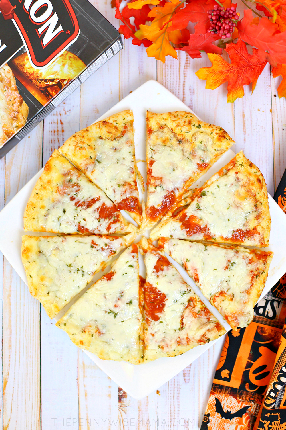 Red Baron Brick Oven Cheese Trio Pizza - A Quick & Easy Halloween Dinner