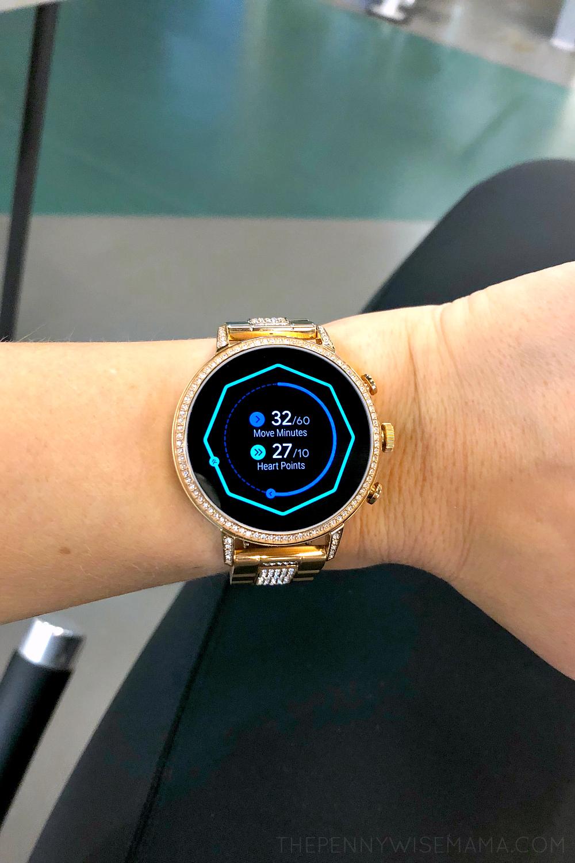 Fossil Gen 4 Venture HR 40mm Rose Gold Smartwatch - fitness tracker
