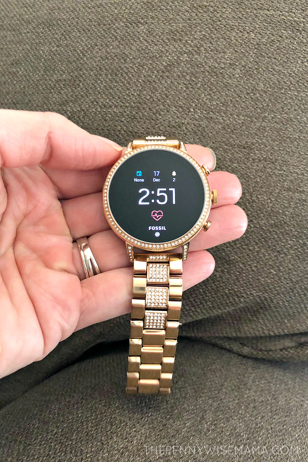 Fossil Gen 4 Venture HR 40mm Rose Gold Smartwatch