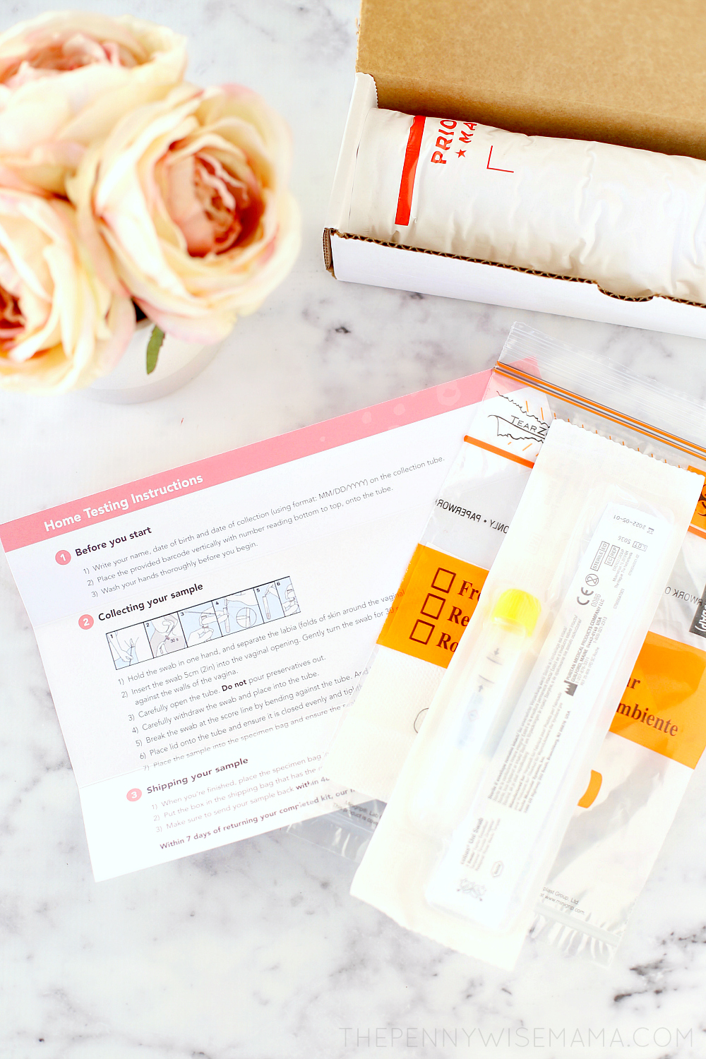 What's Inside the Nurx Home HPV Test Kit