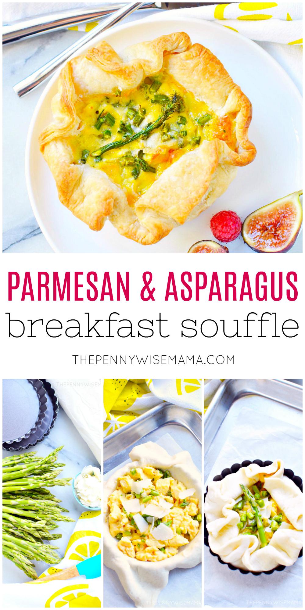Easy Parmesan & Asparagus Soufflé - a delicious breakfast souffle!