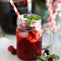 Festive Cranberry Mint Iced Tea