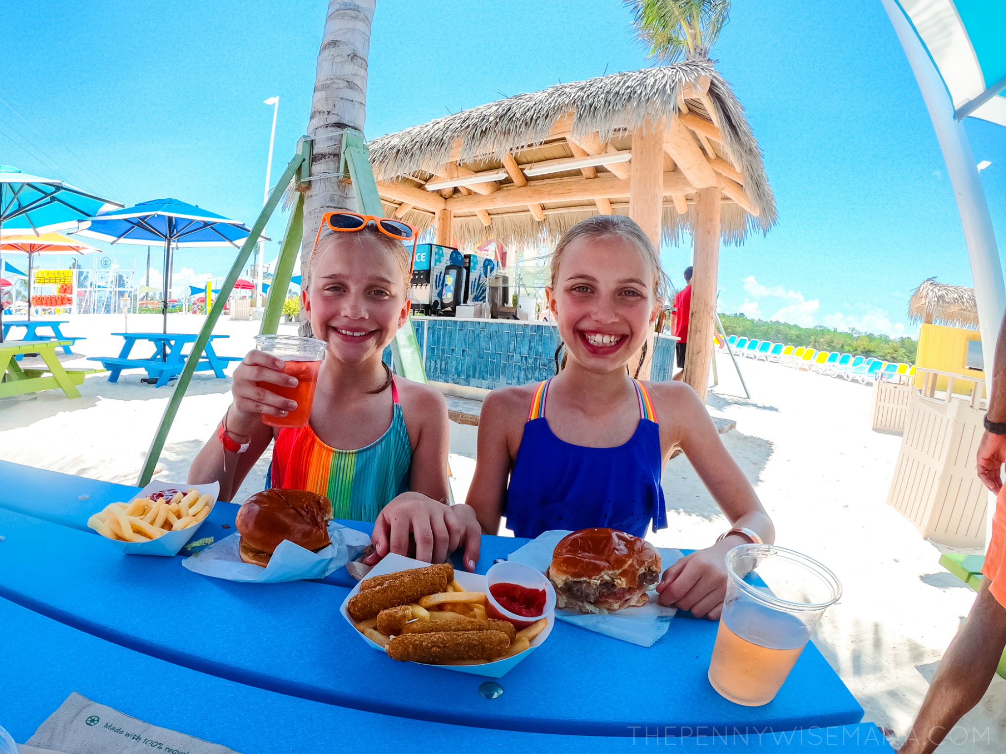 Eating Lunch at Perfect Day at CocoCay
