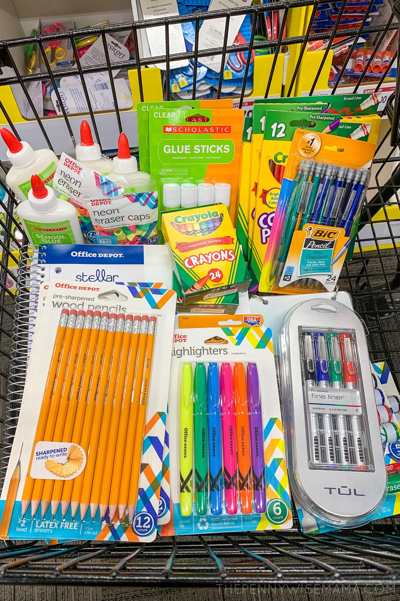 School Supply Deals at Office Depot