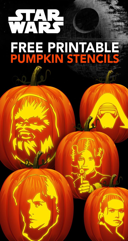 Free Star Wars Pumpkin Carving Stencils