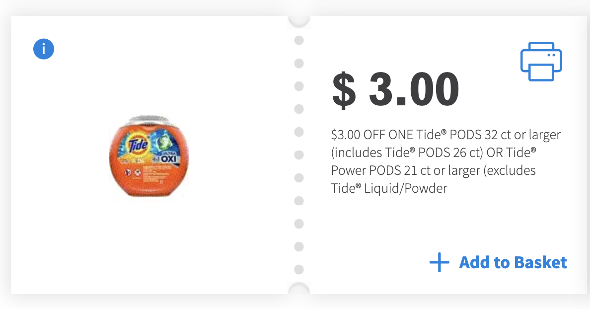 $3 off Tide PODS Coupon
