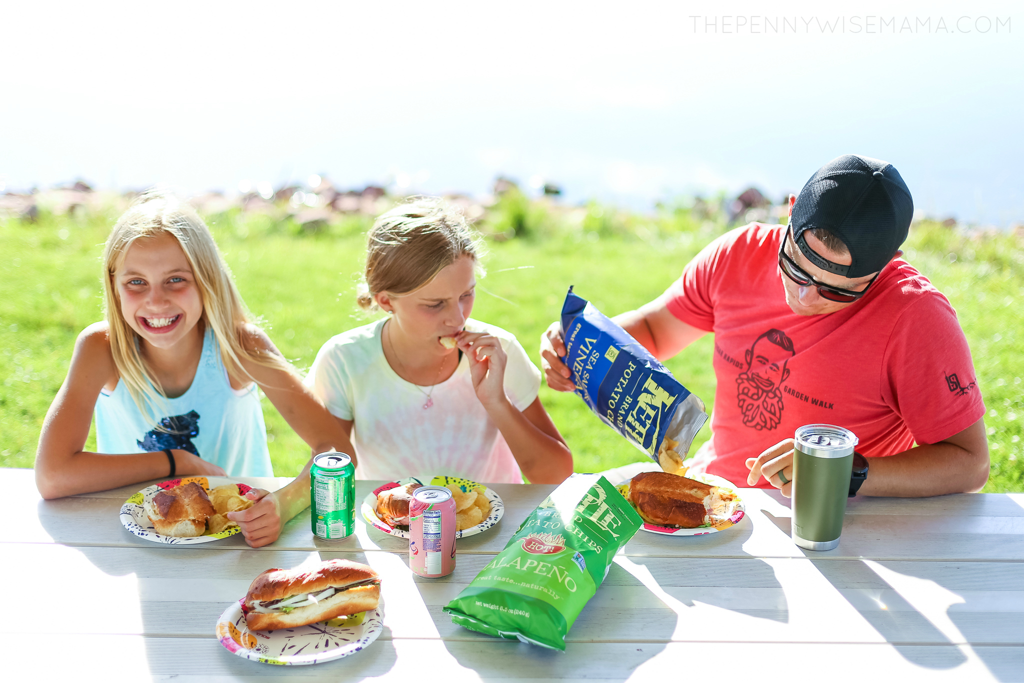 Family Picnic with Kettle Chips