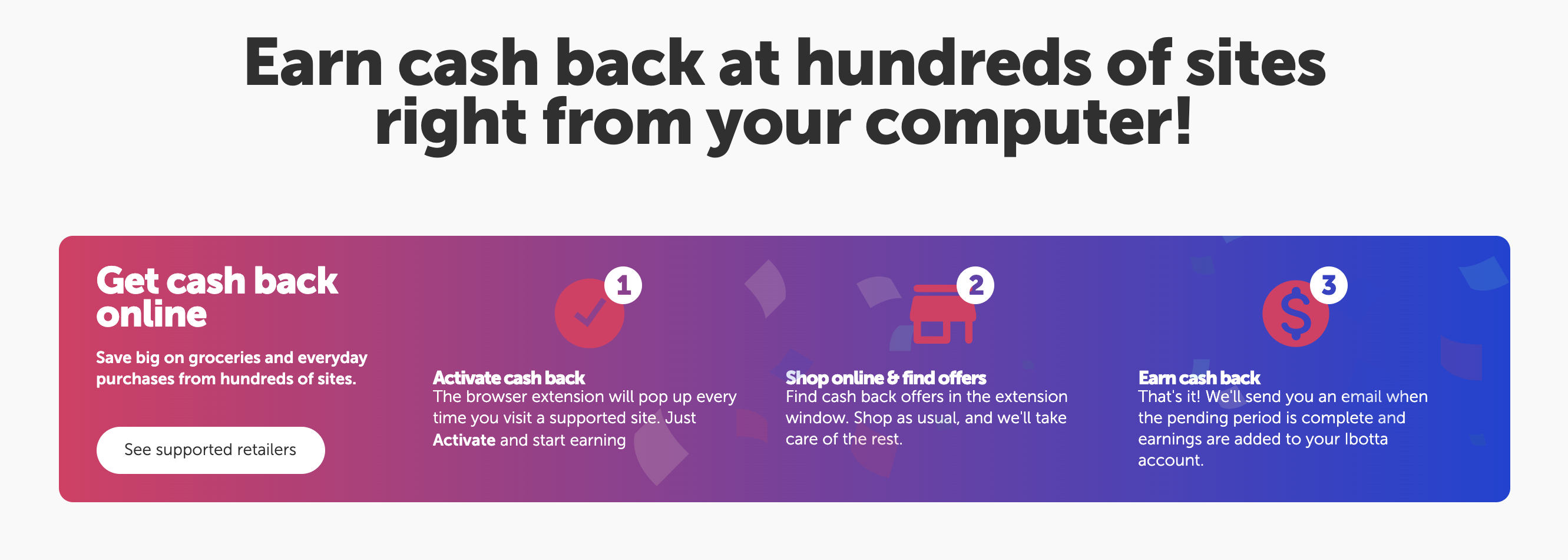 Earn Cash Back with Ibotta Browser Extension