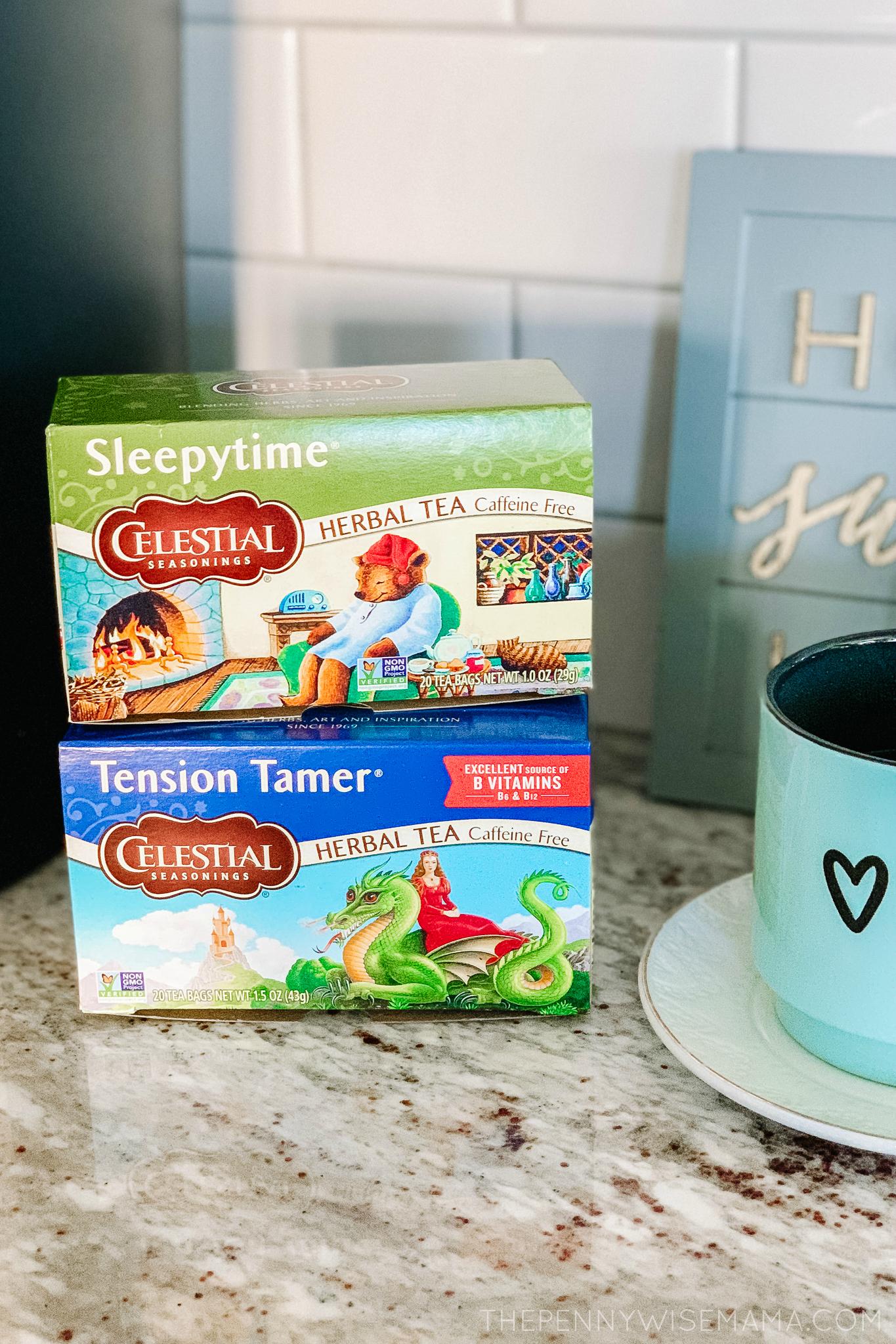 Celestial Seasonings Tension Tamer and Sleepytime Teas