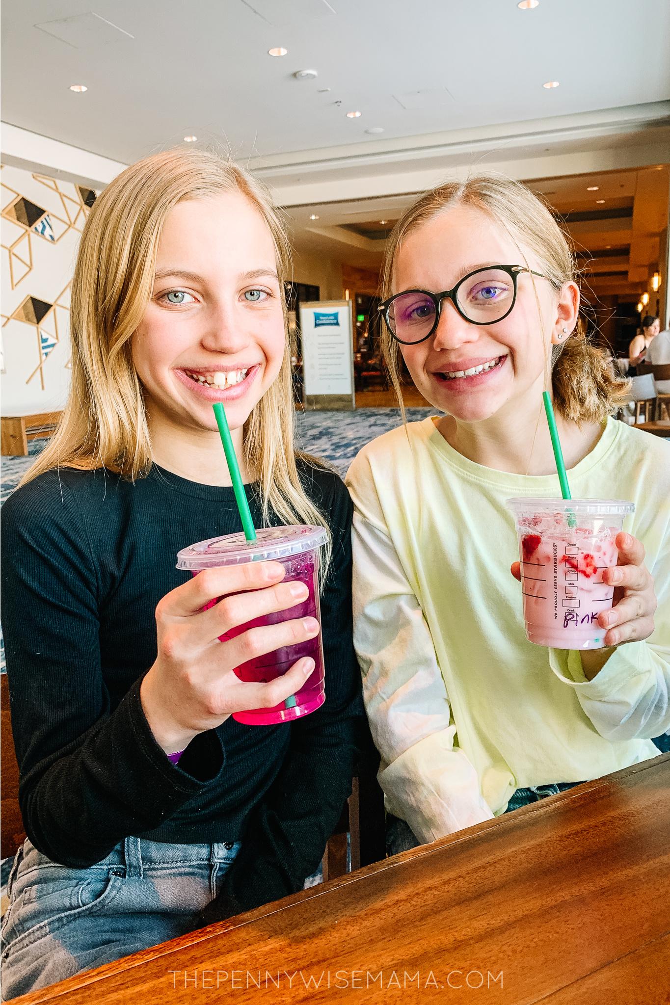 Starbucks Drinks from Gaylord Rockies Resort