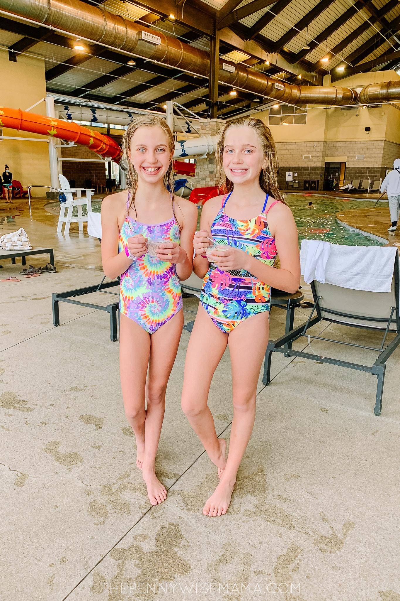 Swimming indoors at Gaylord Rockies Resort