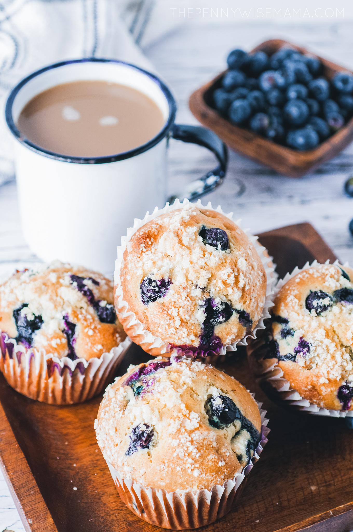 The Best Jumbo Lemon Blueberry Muffins