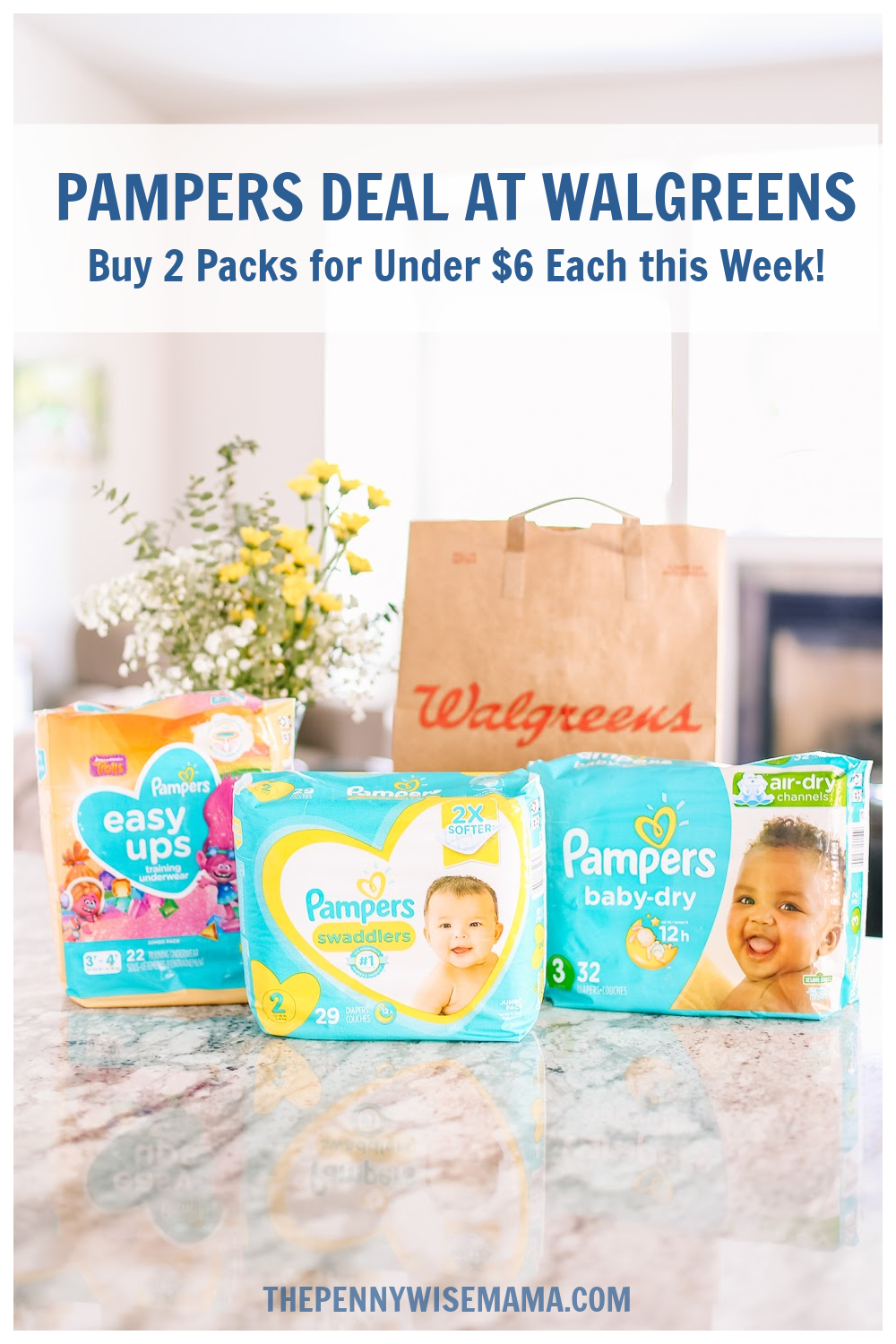 Now is a great time to stock up on diapers at @Walgreens! Through 6/26, you can score Pampers products for as low as $5.50 each! I'm sharing all of the details on the blog.