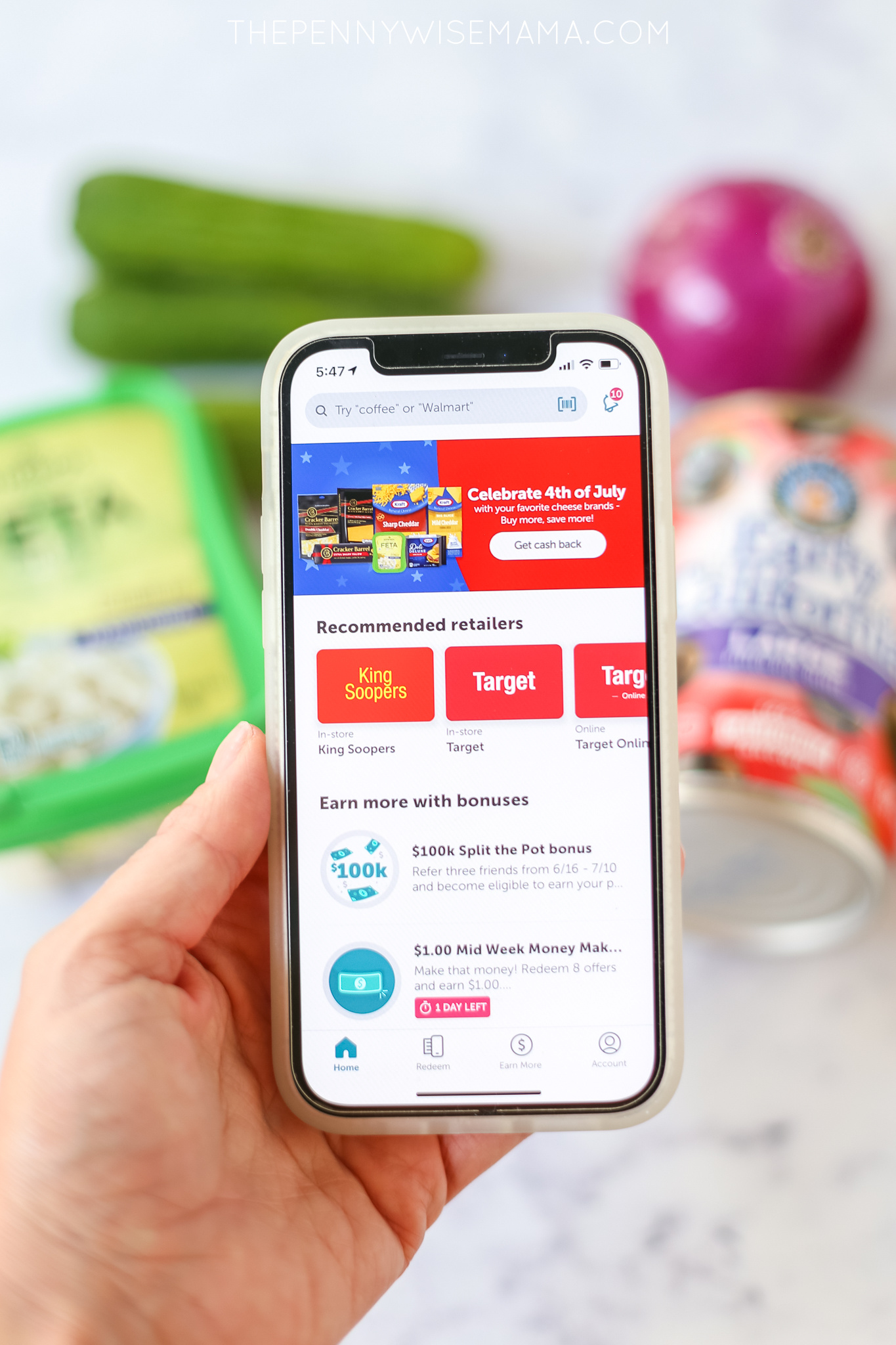 Save on groceries with the Ibotta App